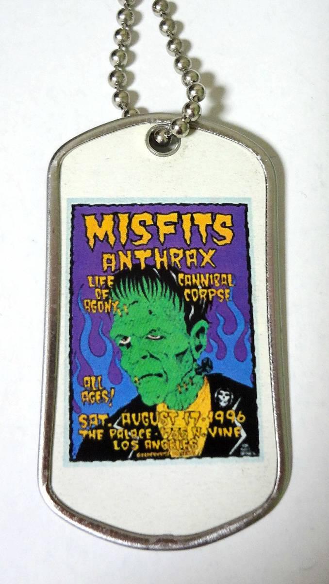 Misfits × Anthrax Alan Forbes デザイン ドッグタグ ネックレス 1996