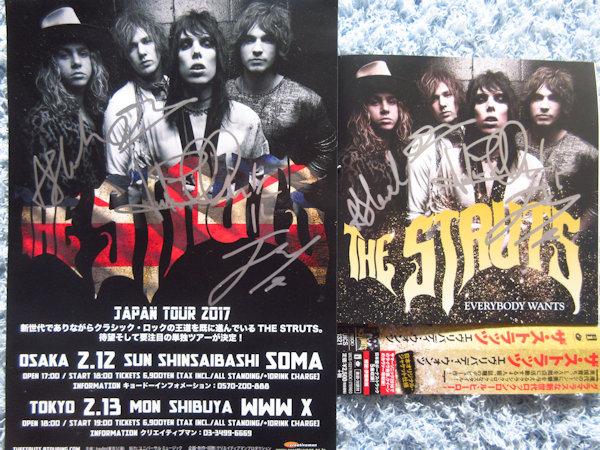 ☆ザ・ストラッツ/THE STRUTS 直筆サイン入りCD&チラシ!