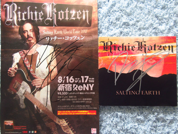 ☆リッチーコッツェン/RICHIE KOTZEN 直筆サイン入りCD&チラシ!