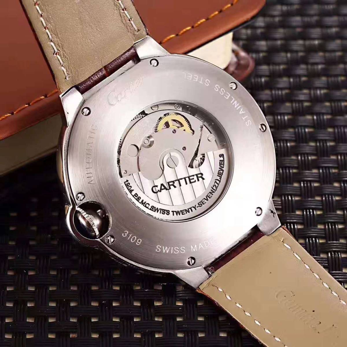 新品 Cartier 自動巻 スケルトン 腕時計 メンズ ウォッチ_画像2