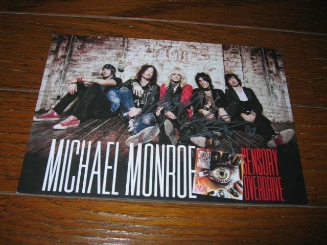 ●MICHAEL MONROE/マイケル・モンロー●直筆サイン