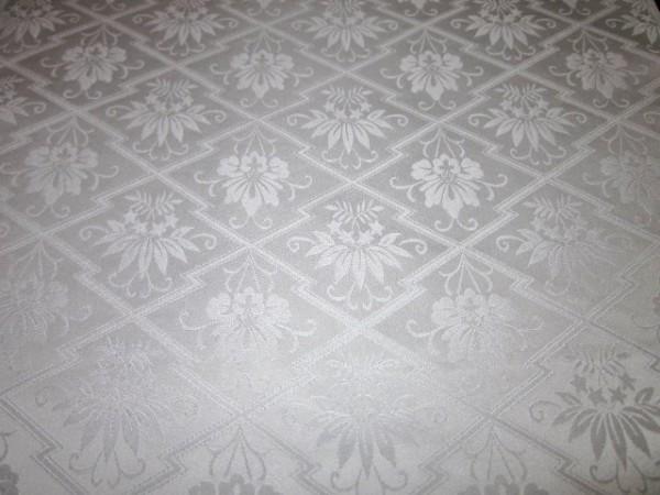 【京わぎれ】正絹 白生地はぎれ2枚 松皮菱取 1.65m×2枚 計3.3m①_画像3