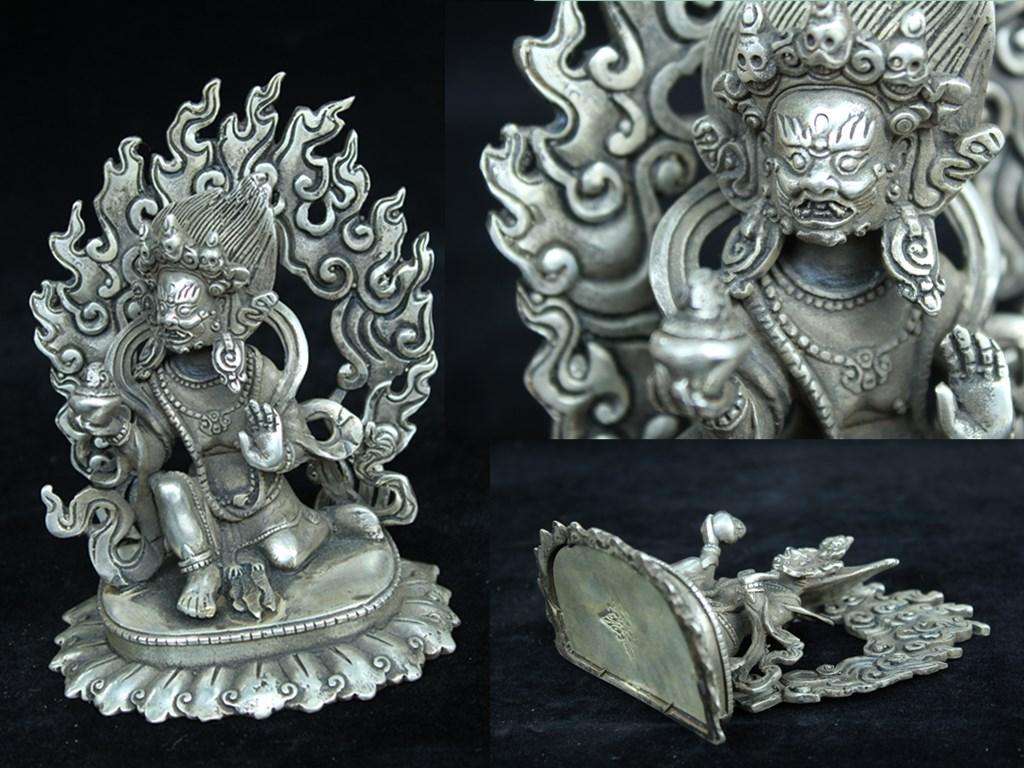 西蔵収集 銅製 不動明王 密宗密教 仏教 上品j81114