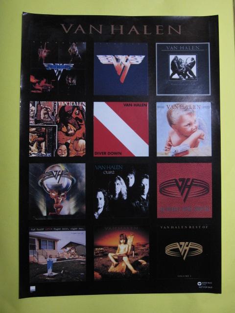 即決】  Van Halen  ヴァン・ヘイレン ステッカー A4サイズ12ピース
