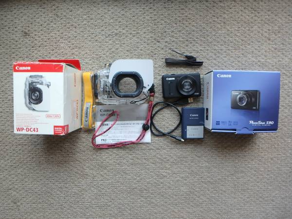 ★☆ Canon PowerShot S100 + WP-DC43 ウォータープルーフケース 中古品 ★☆
