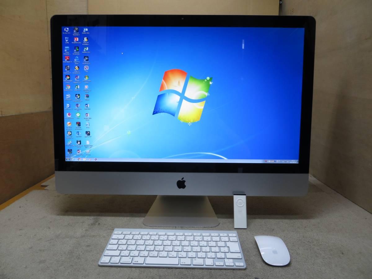iMac 27型 A1312◆Mid2011★高速 i7 / 16GB / 2000GB★ダブル Mac OS X & Windows7★Adobe, Mac Office2016版, Win Office版 付◆ 中古美品