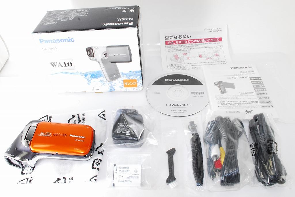 ☆極上美品☆Panasonic パナソニック 防水デジタルムービーカメラ HX-WA10 サンシャインオレンジ