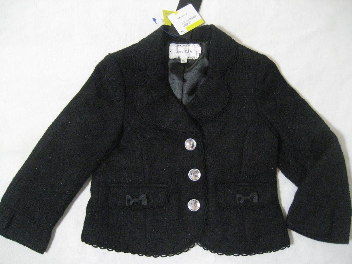 2f572ae9f2c71 代購代標第一品牌- 樂淘letao - 新品¥7452 組曲anyFAM フォーマルジャケット110cm 子供用女の子 ツイードラメ入り黒色ブラックセレモニー