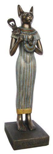 38㎝ 雌猫神バステト神の像 古代エジプト神話彫刻宝物風オブジェ猫ブロンズ像置物エジプト雑貨エスニックオリエンタル彫像