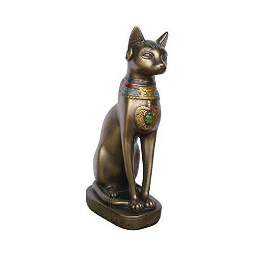 猫神バステト神の像 ネコ座像古代エジプト神話キャット彫刻宝物風オブジェ猫ブロンズ像エジプト雑貨エスニックオリエンタル彫像置物