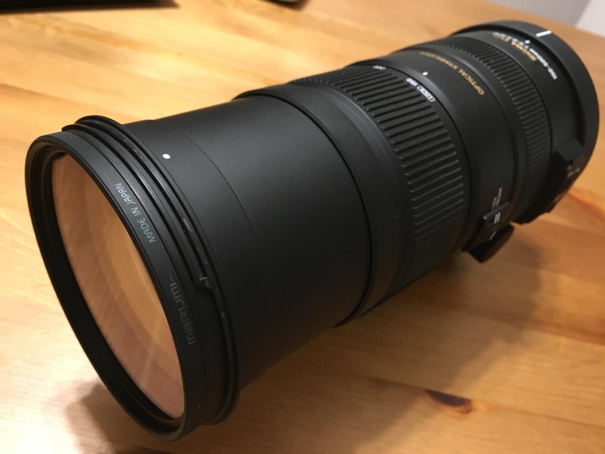 【美品】SIGMA DG 150-500mm 1:5-6.3 APO HSM NIKON用 marumi製86mm枠レンズフィルター& CURA クリーナーのおまけ付き