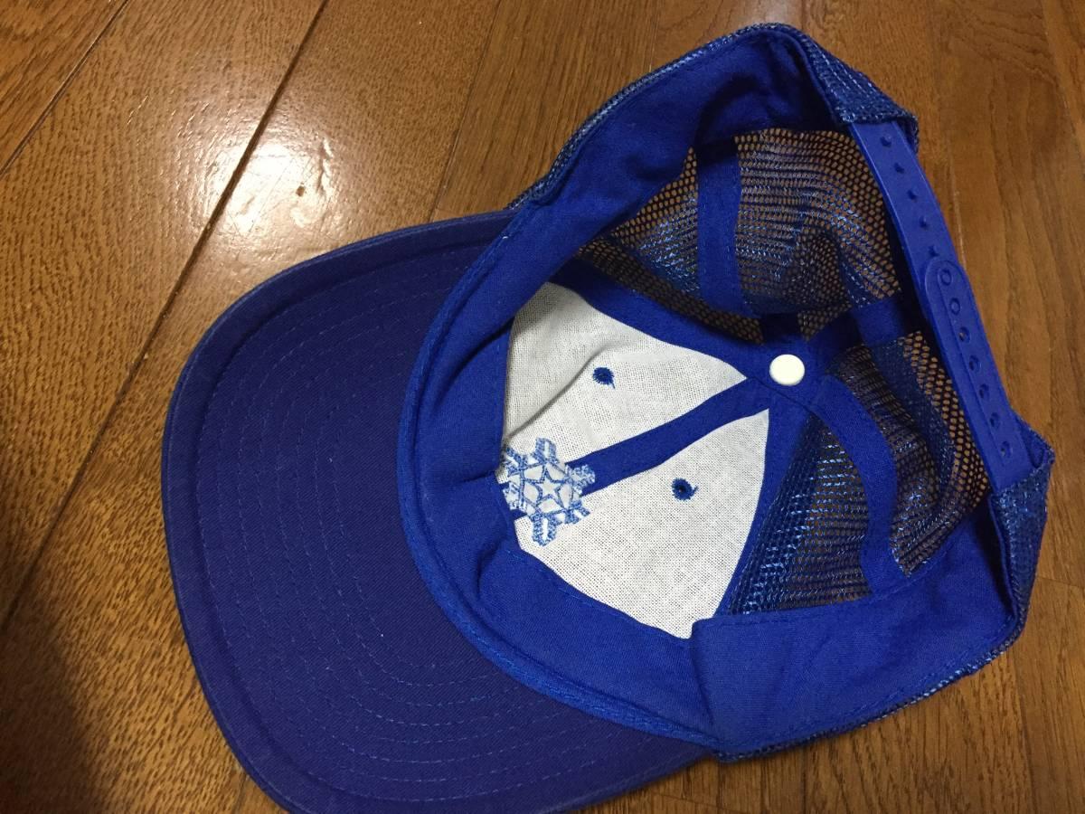 雪印 作業帽子 SNOW 氷結晶マーク 希少 昭和レトロ 雪印乳業 雪印牛乳キャップ_画像3