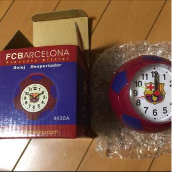 【未使用】FCバルセロナの目覚まし時計 グッズの画像