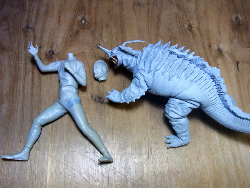 ウルトラマン対ネロンガ ソフビキット ボークス グッズの画像