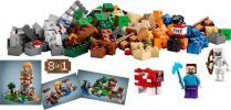 クラフトボックス 21116 マインクラフト ポスター付き 箱なし Crafting Box スティーブ スケルトン レゴ LEGO