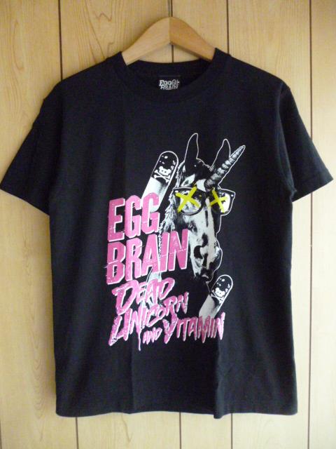 エッグブレイン ★ 2013年 ツアー Tシャツ S 黒 ★ EGG BRAIN 神戸 バンド レディース パンク クアトロ