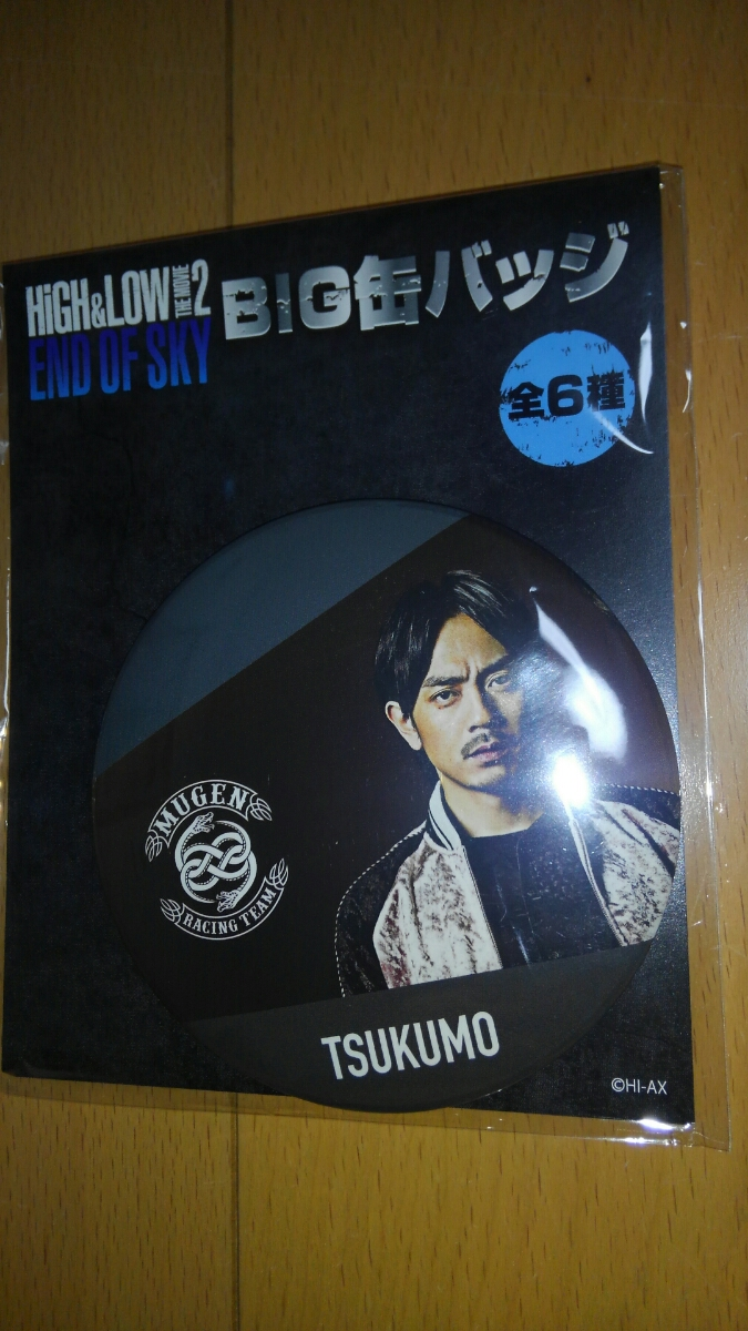 HIGH & LOW BIG 缶バッジ END OF SKY 青柳翔 TSUKUMO