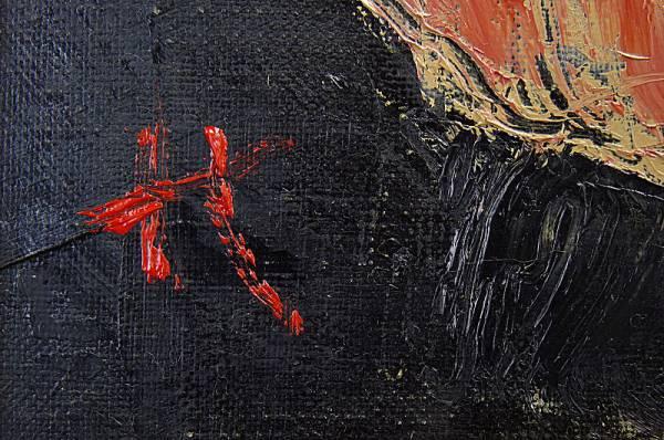 ■作者不詳 裸婦 4号油彩 林武を彷彿させる力強い作品