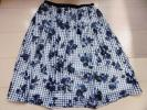 any SiSエニィスィス◇ブルー花柄スカート◇サイズ1