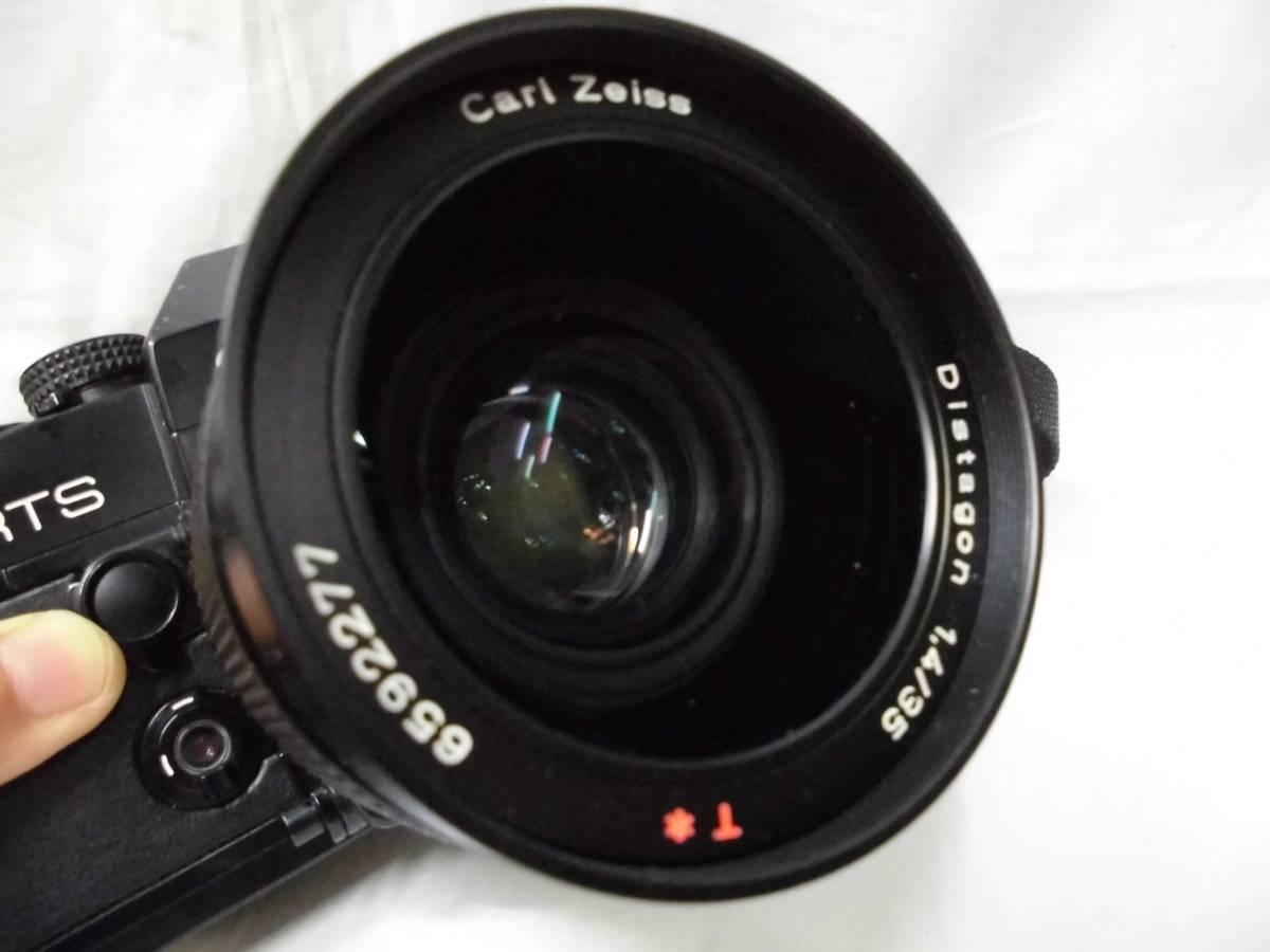 CONTAX RTS 50YEARS Carl Zeiss Distagon 1,4 / 35 一眼レフカメラ レンズ 取扱説明書付 コンタックス ジャンク扱い_画像3