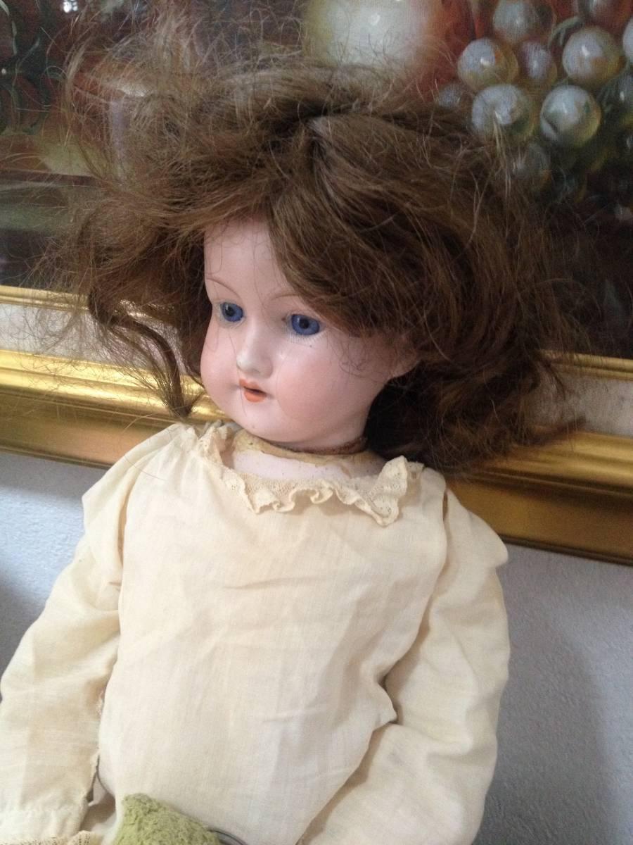 ☆ 送料無料 1900年代初期 48cm Armand Marseille 390 アーモンド マルセイユ マルセル ドイツ製 ビスクドール 人形 ドール