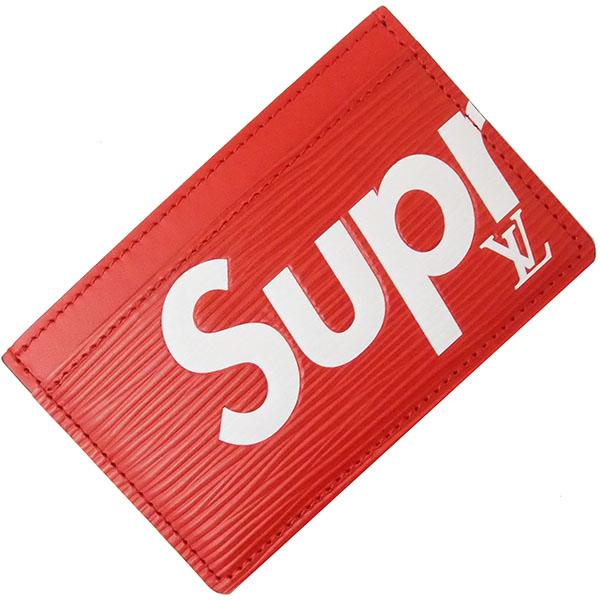 新品新作 ルイヴィトン シュプリーム コラボ サーンプル カードケース 定期入れ パス レッド ホワイト Supreme × Louis Vuitton 完売品