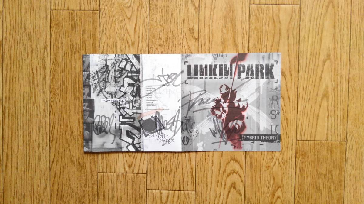 ■LINKIN PARK メンバー直筆サイン入りCD 2001年 Chester Bennington チェスター Dead by Sunrise 直筆サイン入りステッカー■