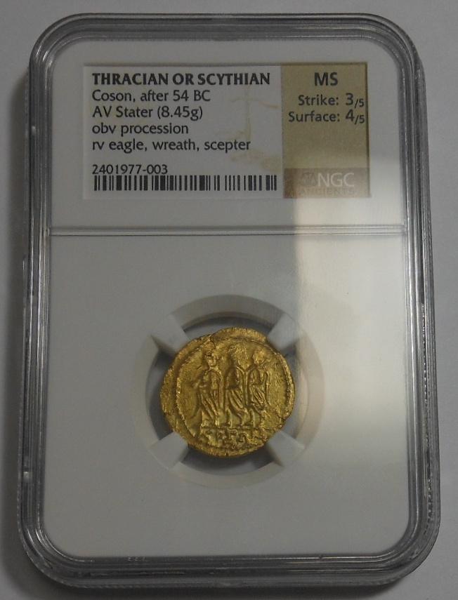 古代ギリシャ コソン スターテル金貨 NGC MS_画像3
