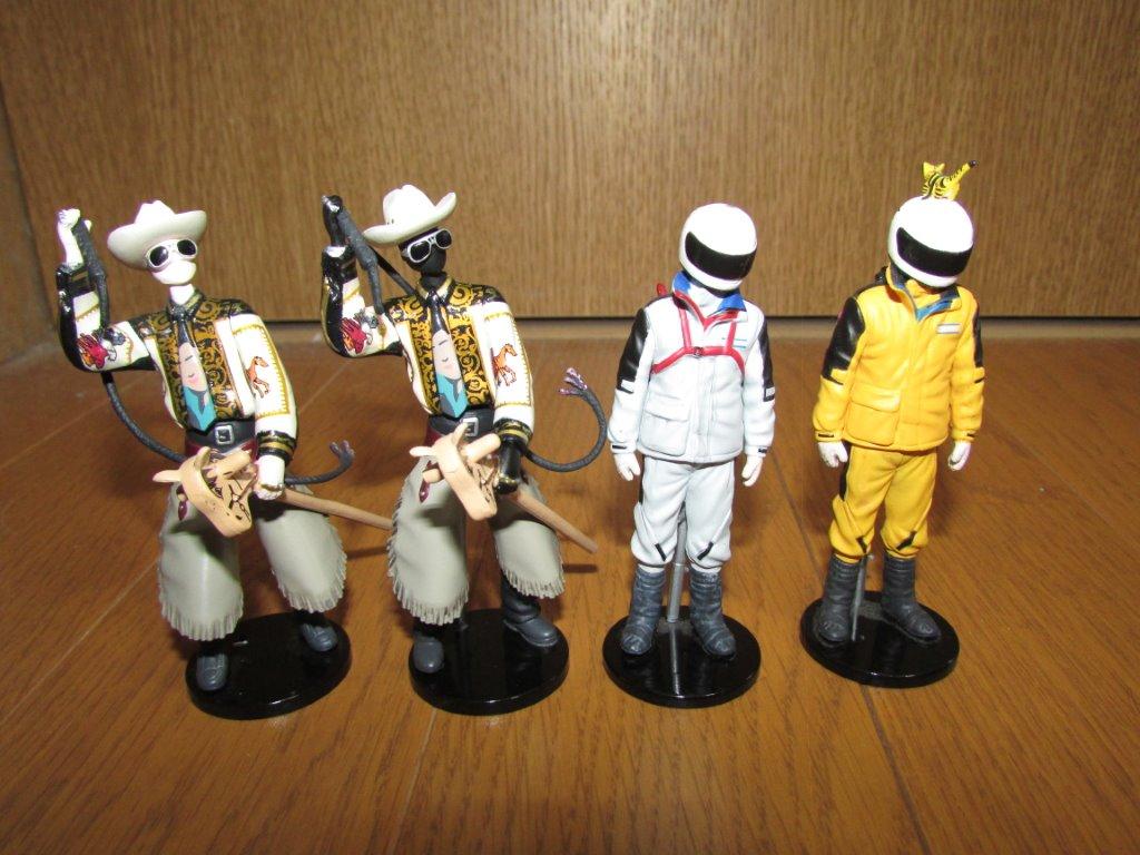 水曜どうでしょう フィギュア  其の5 ・ 其の7 ・ 其の8  「 原付 西日本マネキン 」「 ウエスタンカーニバル 」  4個 セット  即決