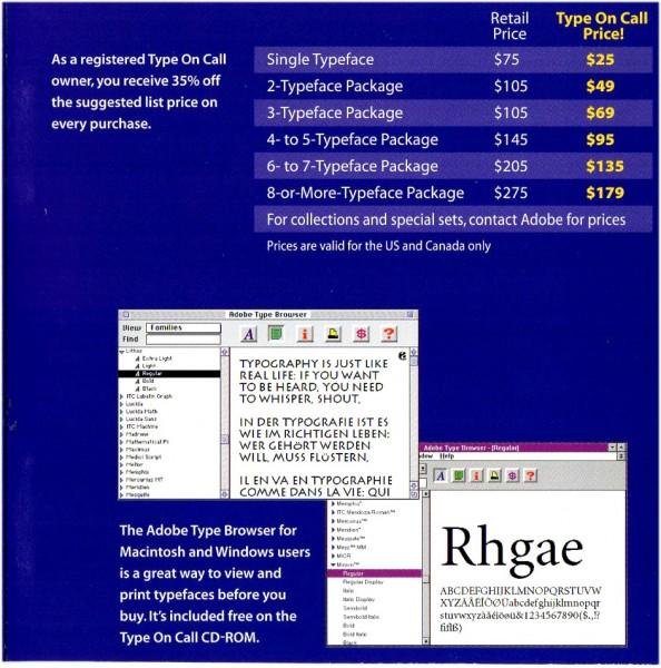 Adobe Type On Call Ver 4 0 / Windows / Mac / UNIX / font