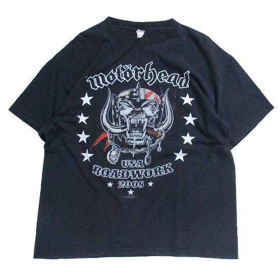 ■モーターヘッドバンT L■Motorhead 2008 ROADWORK バンドT ロック メタル アメリカ古着 メンズ ヴィンテージ レミー USAツアー 両面