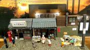 ★昭和の街並み★ ジオラマ完成品 LED電飾・背景画像・ケース付き