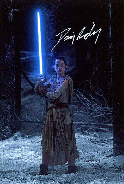 デイジー・リドリー 直筆サインフォト 証明書付 Star Wars レイ