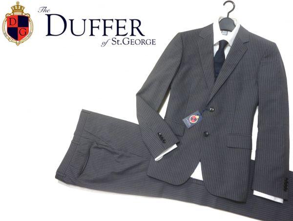 定価4.3万 新品▼ ダファー The DUFFER of St.GEORGE▼ 2B ピンストライプスーツ(L)