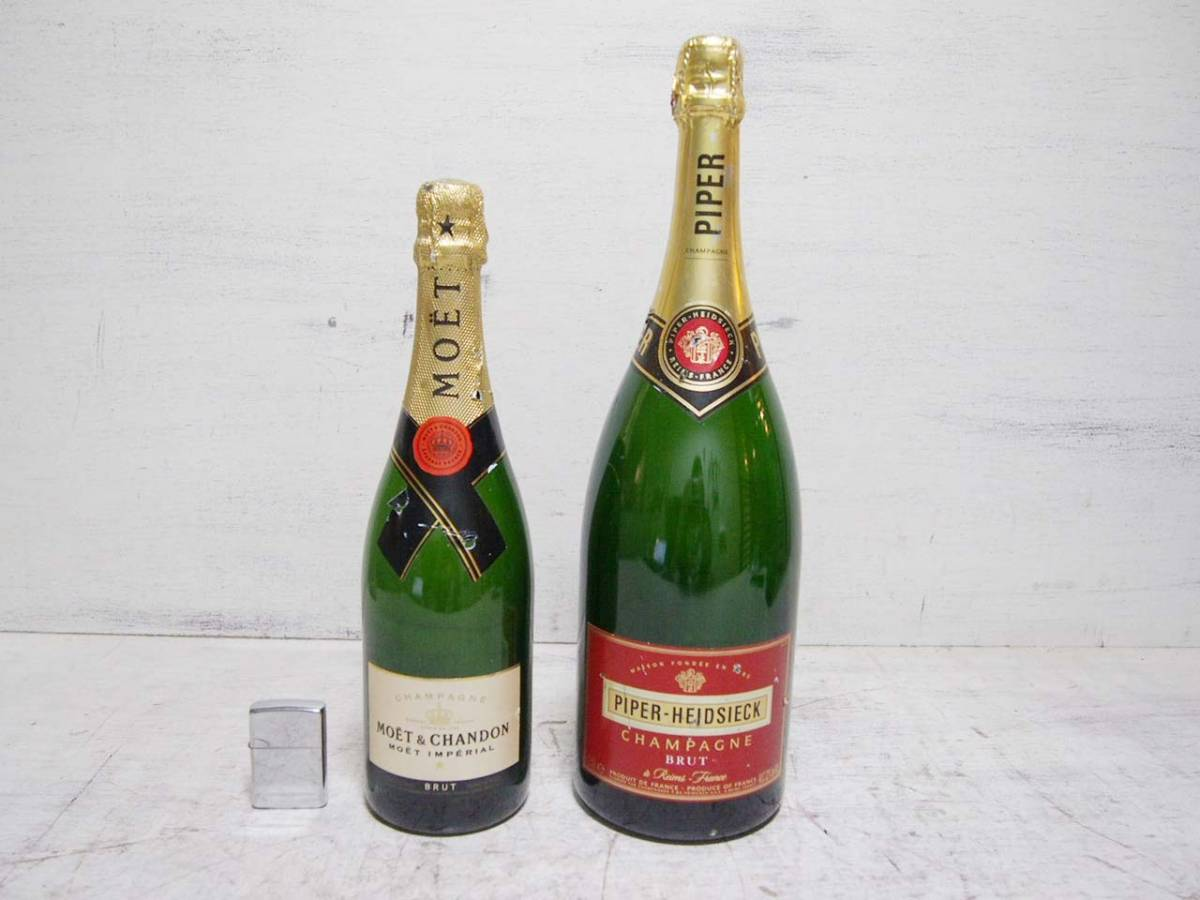 0910-13★MOET&CHANDON / モエ 等 シャンパン系 ディスプレイボトル 2本セット