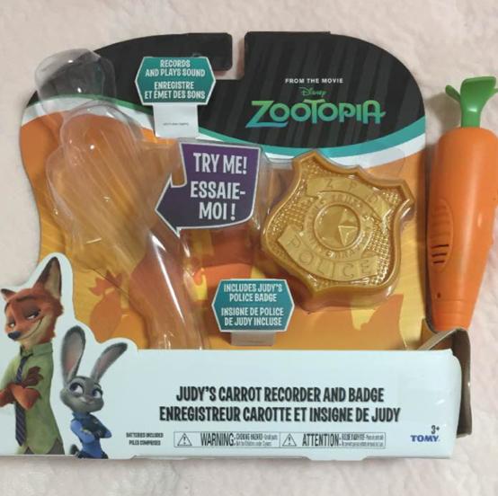 ニンジンペン、ニンジン型レコーダーペン、にんじんペン、ズートピア、ジュディ、ニック、ZOOTOPIA、ディズニー、タカラトミー ディズニーグッズの画像