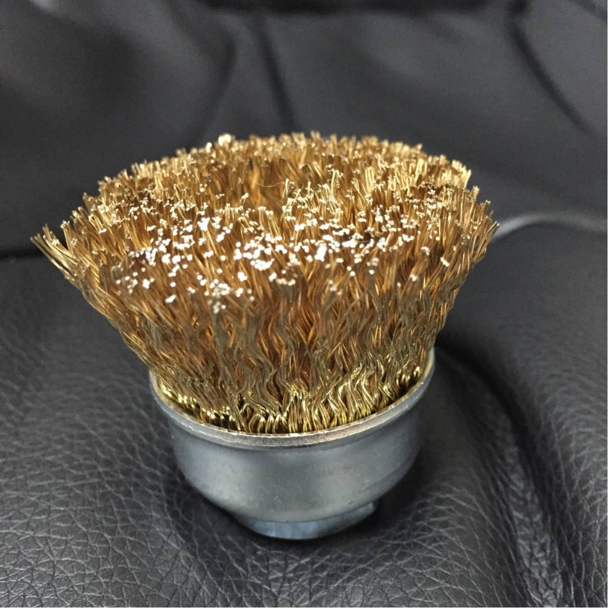 バーベキュー 網、鉄板 にこびり付いた焼きカスを素早く落とす! ワイヤーカップブラシ 10個セット (新品・送料無料)
