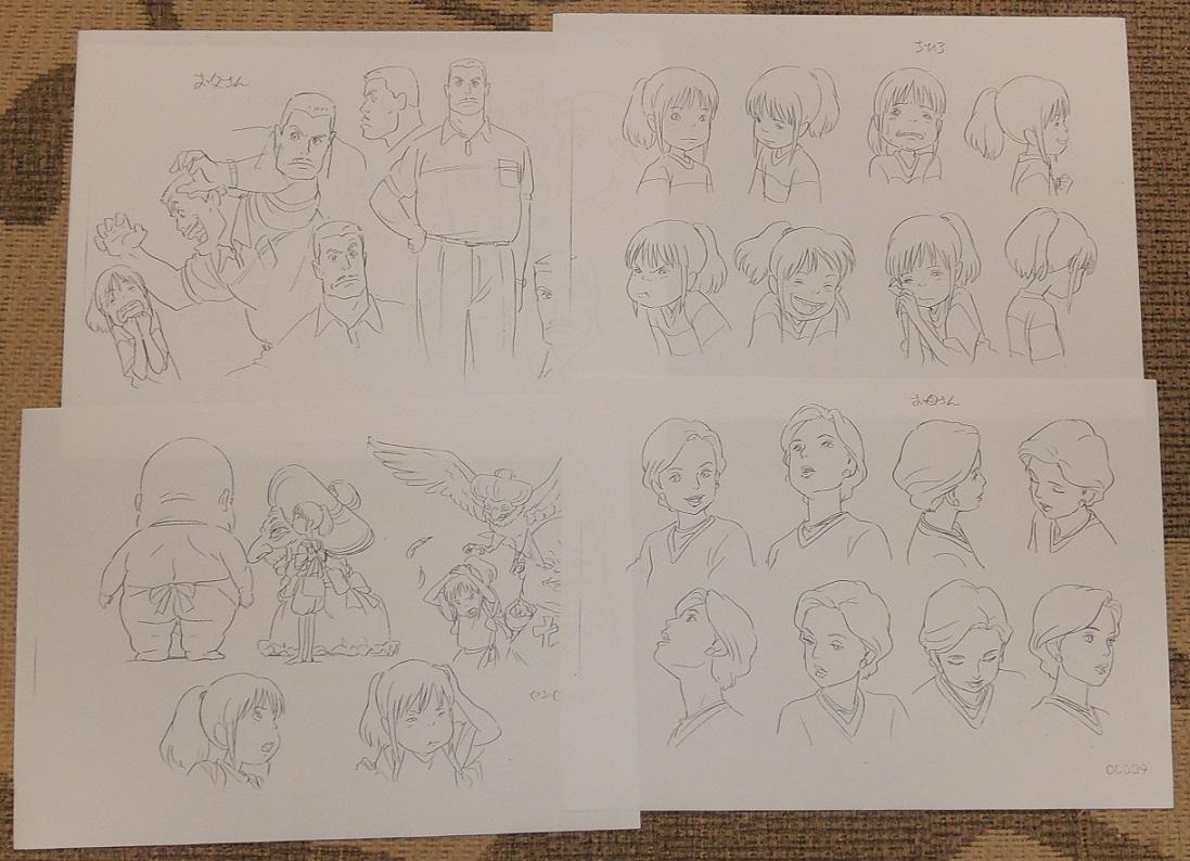ジブリ☆千と千尋の神隠し キャラクター設定76枚☆宮崎駿_画像3