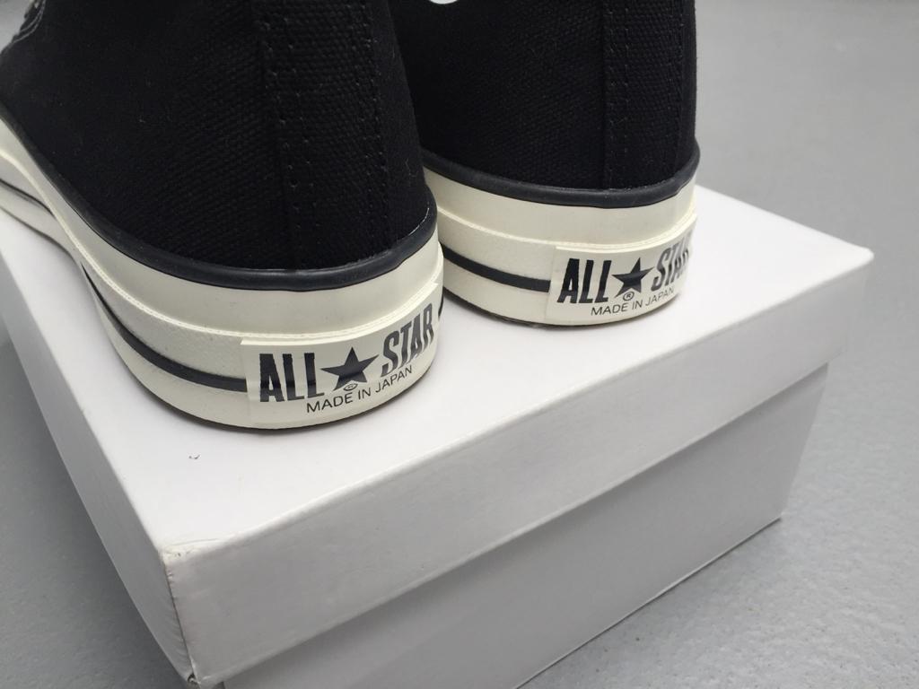【未使用】日本製 コンバース converse オールスター all star hi 26.0cm made in japan 黒 ブラック_画像3