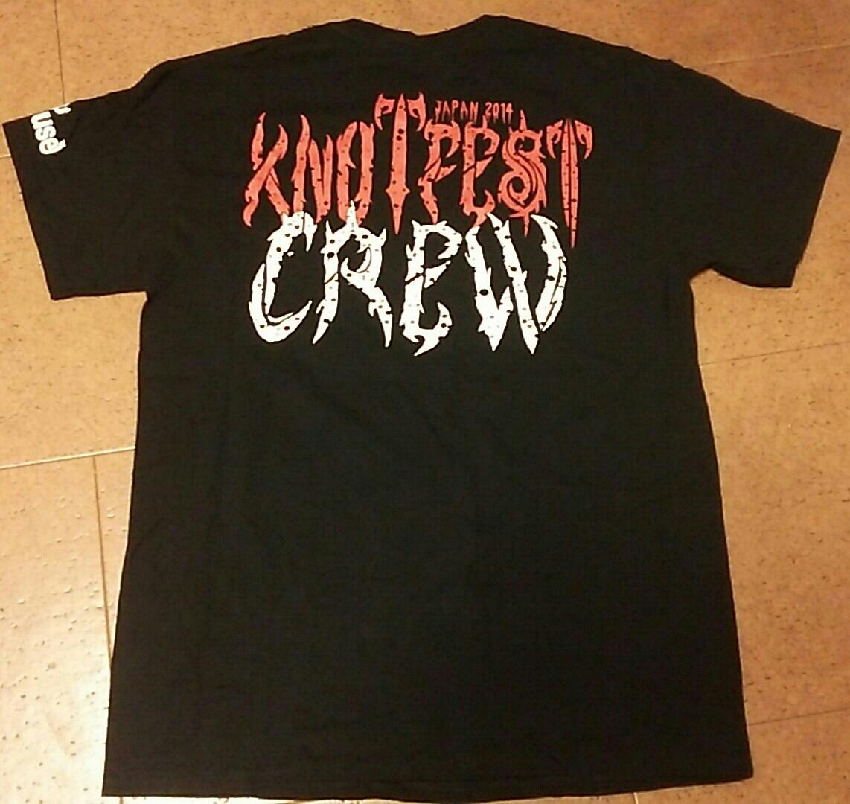 knot fest 2014 非売品 シャツ (metal メタル デスメタル death metal ブラックメタル black metal ハードコア hardcore slipknot