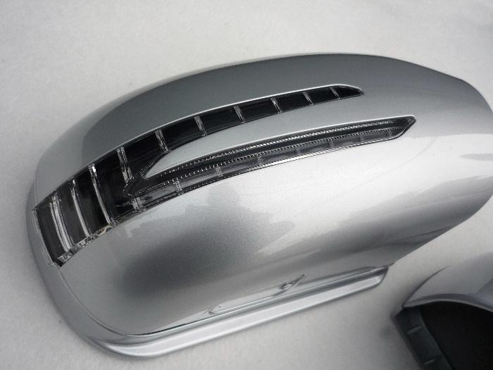 ベンツ/CLクラス/W215/後期/アロー/ドア/ミラー/カバー/ブリリアント/シルバー/744/CL500/CL600/CL55/CL65/AMG/ブラバス/ロリンザー_画像2