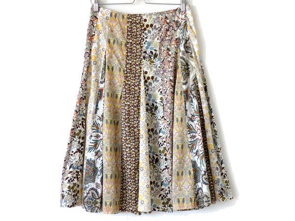 【送料無料】SCAPA★素敵!プリントデザインロングスカート