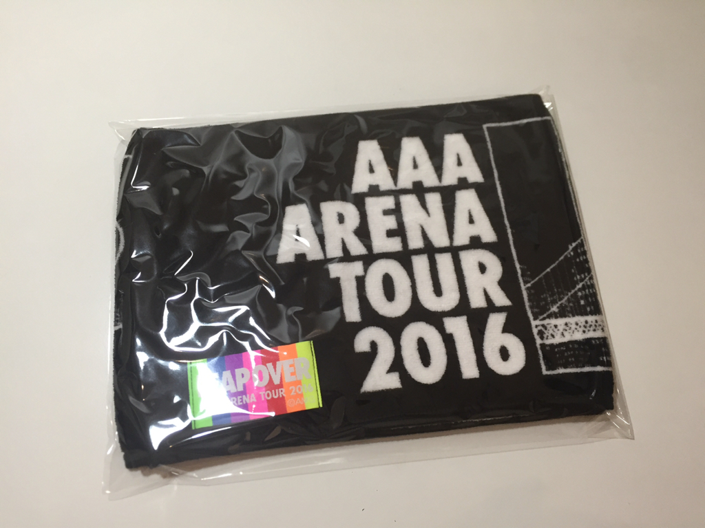 美品 AAA マフラータオル タオル ARENA TOUR 2016 LEAP OVER c115