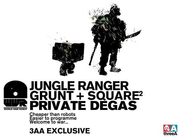 threeA WWR 3AA Jungle Ranger Grunt and Square 1/6 Ashley Wood 3A ※スクウェアの箱に関する注意事項あり