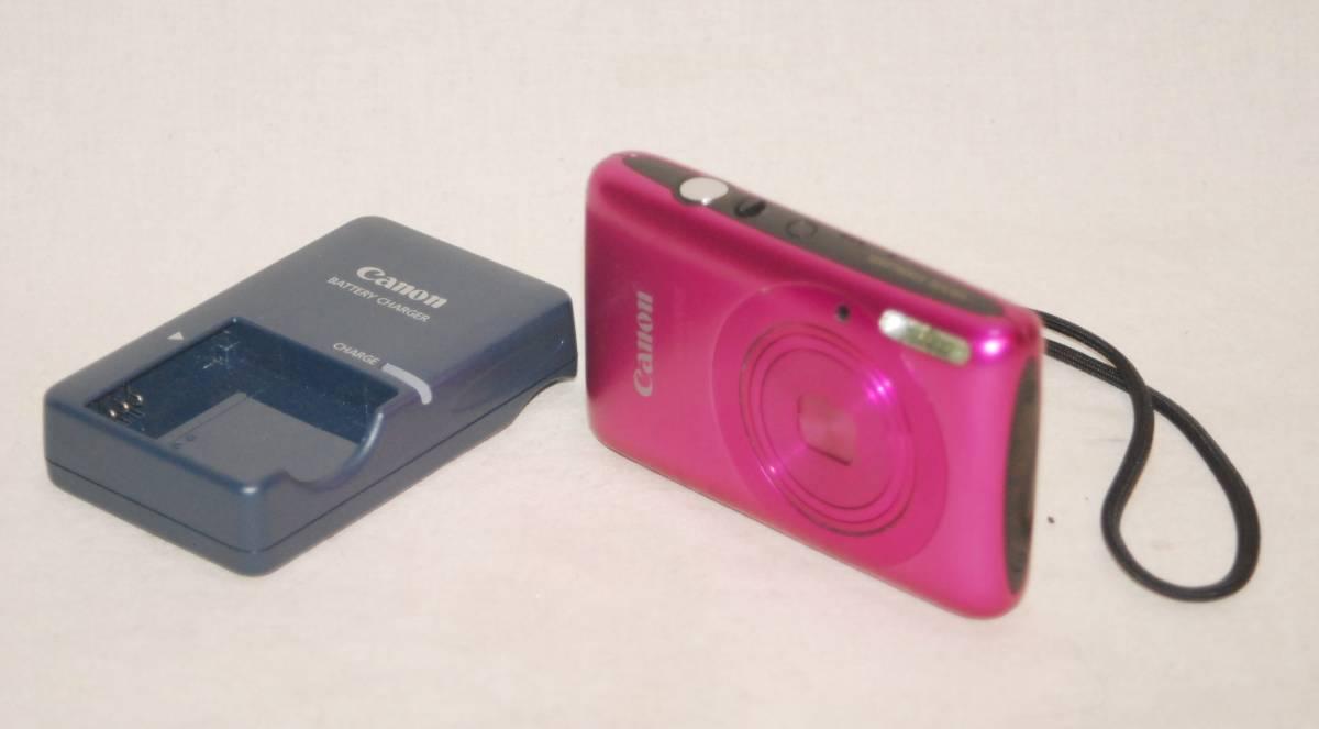 美品 Canon キャノン PowerShot パワーショット SD1400IS IXY 400F フューシャピンク 充電池 充電器付き