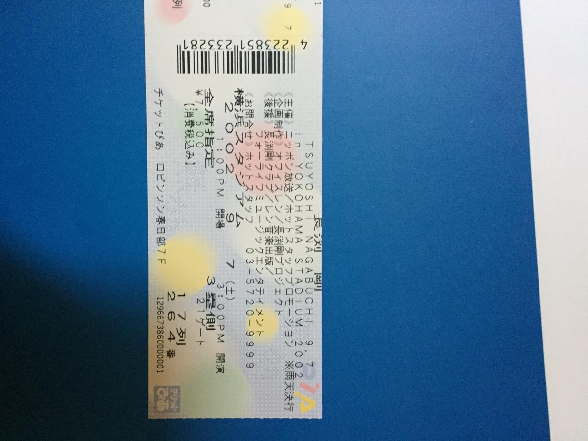 長渕剛 2002年 横浜スタジアム半券 ライブグッズの画像