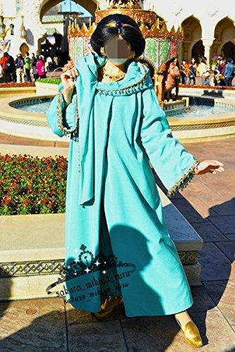 コスプレ衣装+髪飾り+ウィッグ ディズニー公認プリンセス ジャスミン仮装 ディズニーグッズの画像