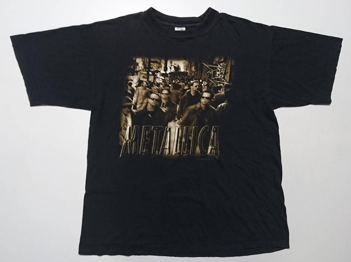 超激レア! METALLICA メタリカ 1996年 90s ツアー ヴィンテージ Tシャツ 黒 XLサイズ LOAD ninja star ニンジャスター 古着