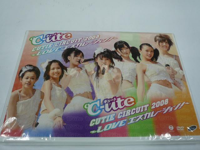 【新品・DVD】℃-ute/Cutie Circuit 2008LOVE エスカレーション! ライブグッズの画像