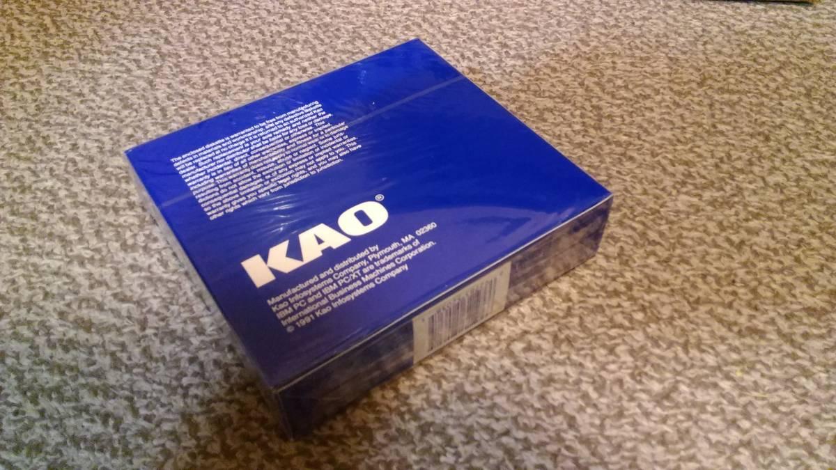 【未開封・100枚】 KAO 花王製 5インチ2Dフロッピーディスク10枚入×10箱 MD2D 5.25インチ PC-8801・PC-9801・SHARP X1など_画像3